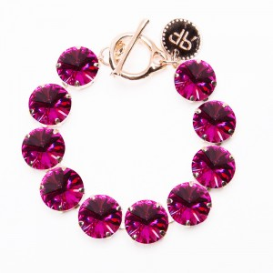 Rebekah Price Rivoli Bracelet in Fuchsia